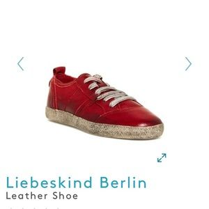 Liebeskind Berlin Red Leather Shoes EU 40 US 10